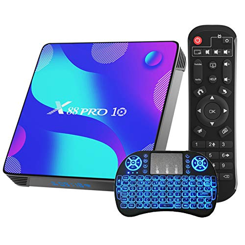 Android TV Box 10.0 , X88 Pro 10 RK3318 Ultra HD 4K HDR 4GB Ram black