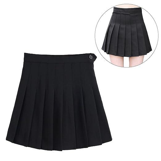 Tinksky Sports High Waist Skirts Short Pleated Skirt School Dresses