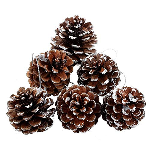 (Yahpetes 6 Pcs Christmas Pine Cones 1.96