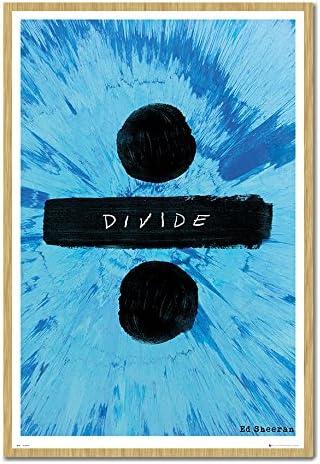 Brecha de Ed Sheeran Póster de Corcho Pin tablón de Madera de Haya con Marco – 96,5 x 66 cms (Aprox 38 x 26 Pulgadas): Amazon.es: Hogar