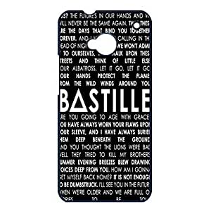 Htc One M7 Case Cover Shell Eye-Catching Lyrics Design Indie Rock Band Bastille Phone Case Cover Bastille Original