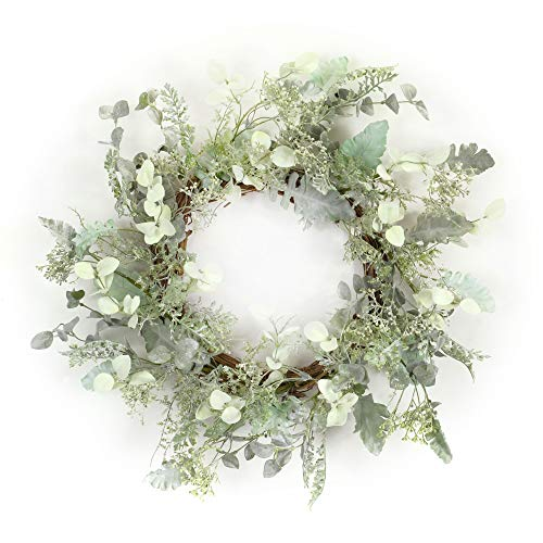 Diva At Home Green and White Mixed Herb Wreath 23