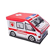 Amazon Lightning Deal 51% claimed: Ambulance Collapsible Toy Storage Box and Closet Organizer for Kids