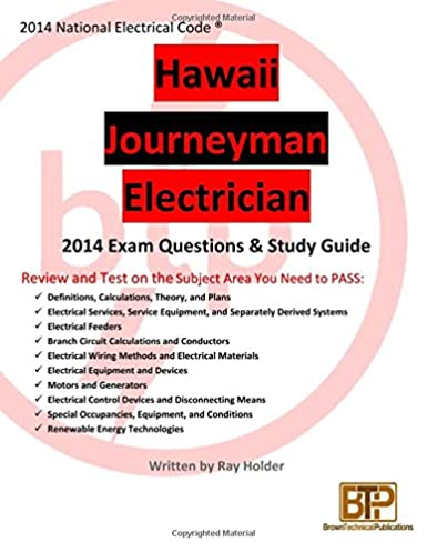hawaii 2014 journeyman electrician exam questions and study guide rh amazon com Electrical Wiring Help Electrical Wiring Diagrams