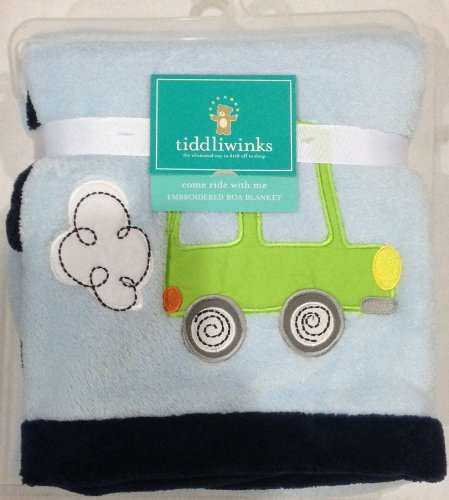 Tiddlwinks Embroidered Car Baby Blanket - Come Ride with Me