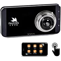 Falcon Zero Touch PRO HD Dash Cam [TOUCH SCREEN] 1080p 24/7 Surveillance, Multi Vehicle Use, 32 GB SD Card Included