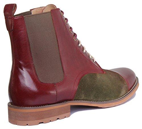 Pour Justin 45 Lacets Homme Rouge cd177 De Nigel Ville xb Bordeaux Chaussures Reece À qFx6qZT