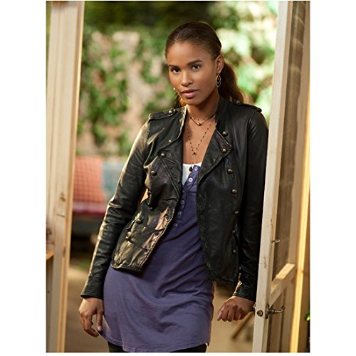 Parenthood Joy Bryant as Jasmine Trussell in Purple Top and Black Leather Jacket 8 x 10 inch photo ()
