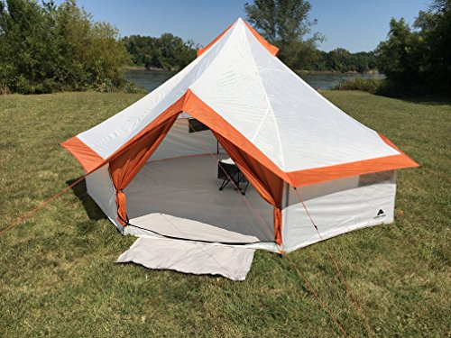 Fast and Easy to Set up,Ozark Trail 8 Person Yurt Tent With Hanging Media Sleeve,Table and Mud Mat,Excellent Choice for Camping,Family Outings,Group Events,Picnics or Music Festivals