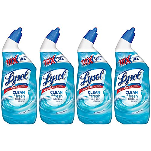 Lysol Power & Fresh Toilet Bowl Cleaner, Ocean Fresh, 96oz (4X24oz) by Lysol