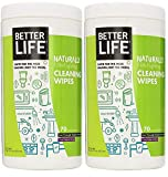 Better Life Natural All-Purpose Cleaning Wipes, Clary Sage & Citrus, 140 Count