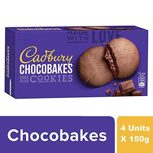 Cadbury Chocobakes Choc Filled Cookies, 4 x 150 g