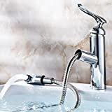 AWXJX Copper Hot and Cold Bath and Sink Pull Out Sink Mixer Taps