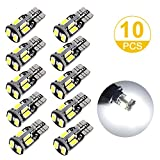 #5: Toplus 194 LED Light Bulb, Super Bright 168 2825 W5W T10 Wedge 10-SMD 5730 Chipset LED Replacement Bulbs, 12V Car Interior Lights for Dome Map Side Marker Door Courtesy License Plate White 10-Pack