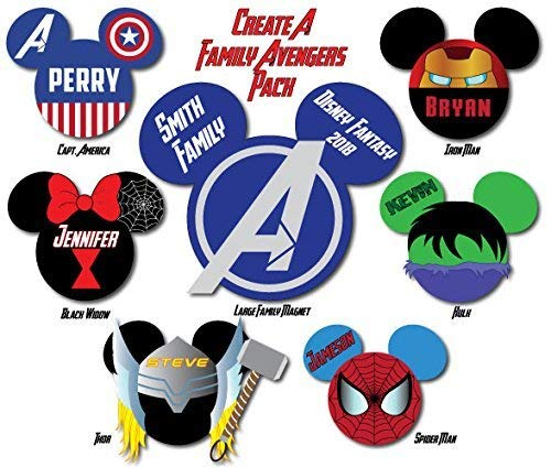 (CREATE A PACK of AVENGERS Disney Inspired Cruise)