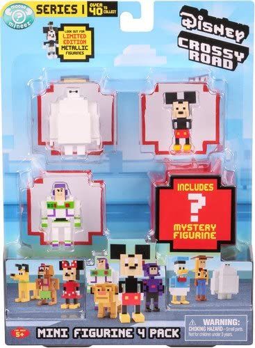 Disney Crossy Road Mini Figures 4 Pack NEW Series 1