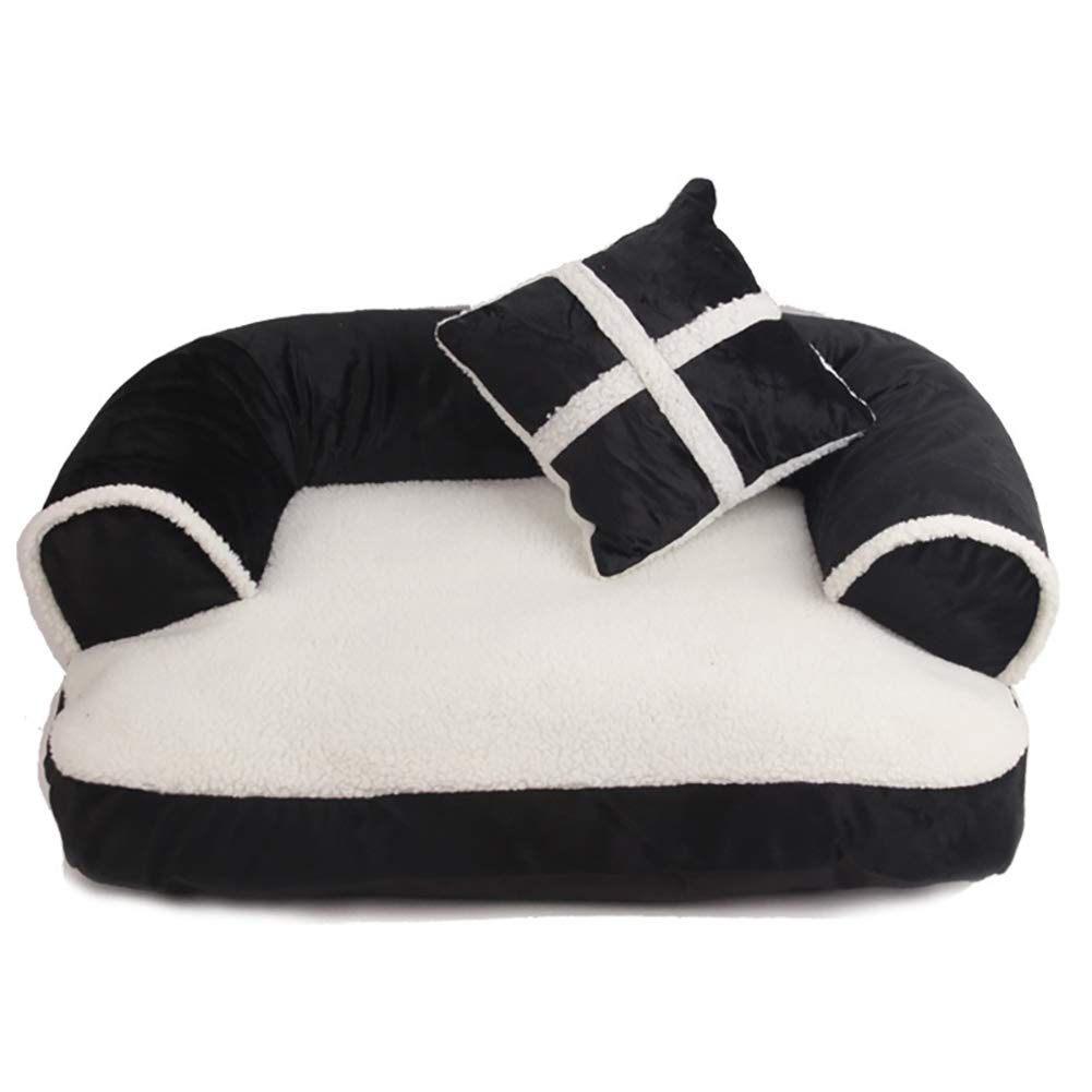 A MediumPet Bed Dog Bed,Orthopedic Plush SofaStyle Couch Pet Bed with Small Pillow,Removable Washable,A,M