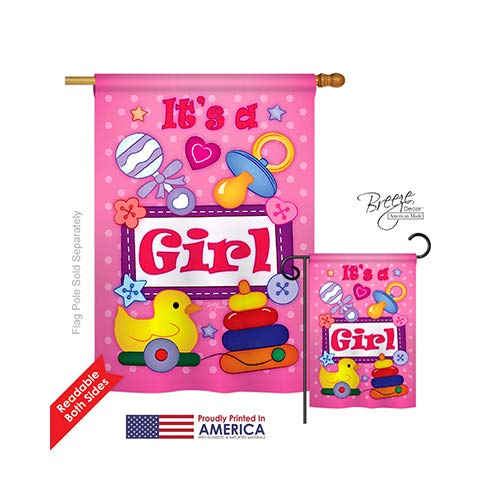 Baby Girl Indoor/ Outdoor Sublimation Flag 28
