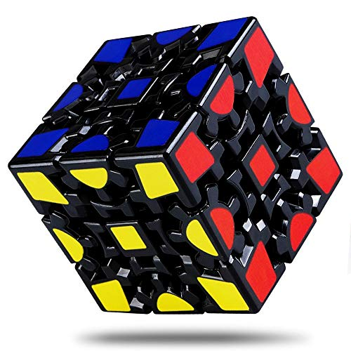 (Wannabuy Magic Combination 3D Rubiks Gear Cube, 3x3 Match-specific Rubiks Cube Stickerless Twisty Puzzle)