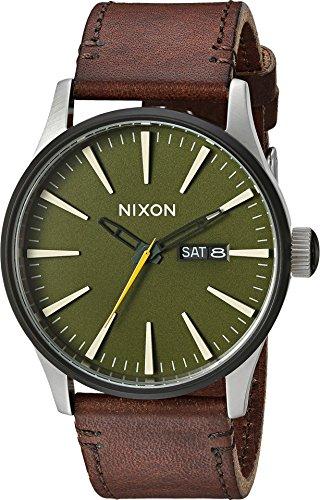 Twist Automatic Watch (Nixon Men's 'Sentry' Quartz Leather Automatic Watch, Color:Brown (Model: A1052334-00))