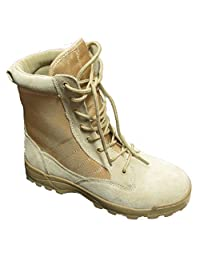 Kids Desert Tan Military Style Boots - DESERT TAN