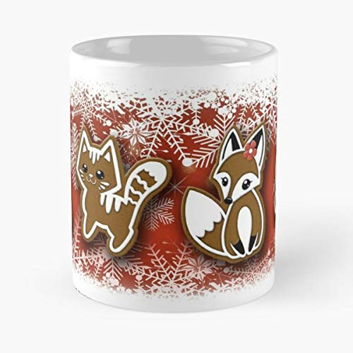 - Gingerbread Cookie Christmas Animal Fantasy - 11 Oz Coffee Mugs Ceramic The Best Gift For Holidays, Item Use Daily