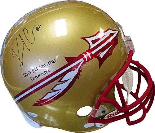 Rashad Greene 2013 BCS National Champions Autographed Florida State University Seminoles Helmet (JSA)