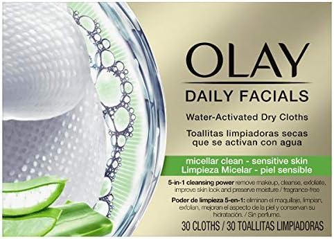 Olay Daily Facials - Paños secos 5 en 1 con activación de agua ...