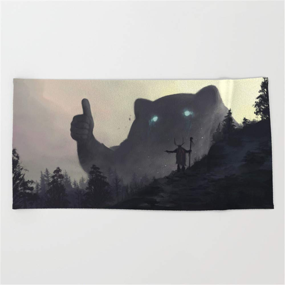 Huisfa yo bro is it Safe Down There in The Woods Yeah Man It's Cool Beach Towel 31.5''x51.2''