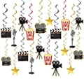 Movie Night Party Supplies Hanging Decorations 30pcs Hollywood Movie Theme Party Decorations