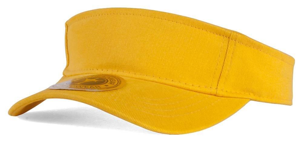 Adjustable Sun Visor, Yellow TOP HEADWEAR