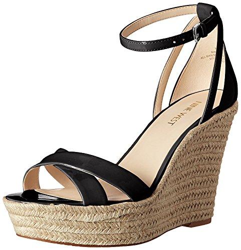Sandale Compensée Synthétique Joker West Neuf Pour Femme, Noir, 42 B (m) Eu / 9 B (m) Uk