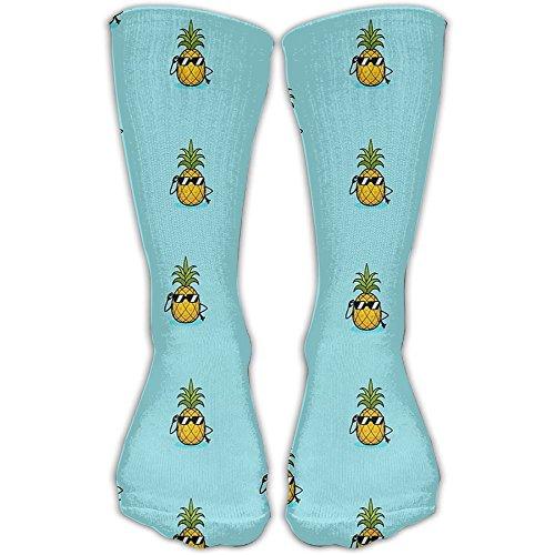 Women Men Cool Pineapple With Sunglasses Printed Crew Socks Casual Ankle - Sunglasses Unusual Uk
