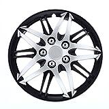 black 16 inch wheel covers - Pilot WH544-16C-BLZ Universal Fit Chrome on Black 16 Inch Wheel Covers - Micro - Set of 4