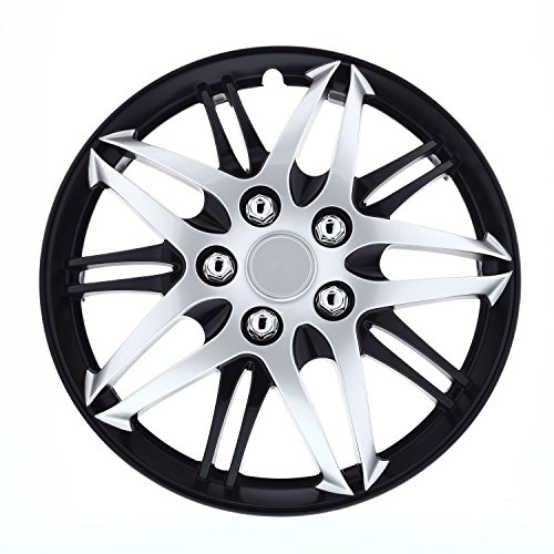 Pilot Automotive WH544-17C-BLK w 17 Inches Formula Performance Series 17 in. Silver with Black Chrome Wheel Covers, 4 ()