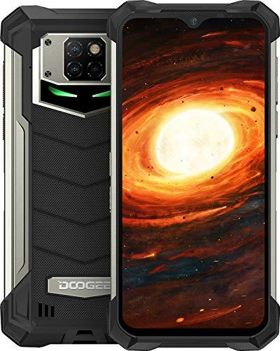 Móvil Libre, DOOGEE S88 Pro Batería 10000mAh Smartphone 4G, 6GB + 128GB con Cámara Triples 21MP+Cámara Frontal 16MP, 6.3 FHD+Pulgada IP68/IP69K Móvil Resistente Android 10, LED/NFC/GPS, Negro