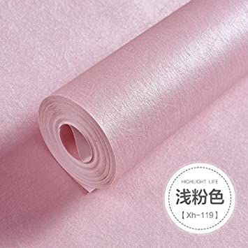 Amazon.com: BABYQUEEN Silk wallpaper modern minimalist solid color ...