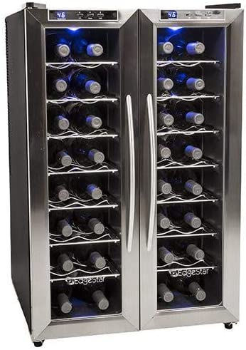 EdgeStar-TWR325ESS-32-Bottle-Dual-Zone-Wine-Cooler