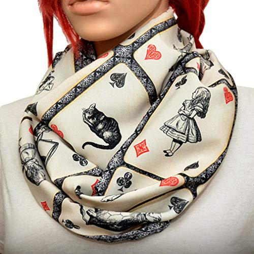 Alice in wonderland Infinity scarf (Small print) -