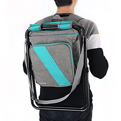 Wacces Multi-Purpose Backpack Chair/ Stool with Cooler Bag for Hiking/Fishing/Camping/Picnicking