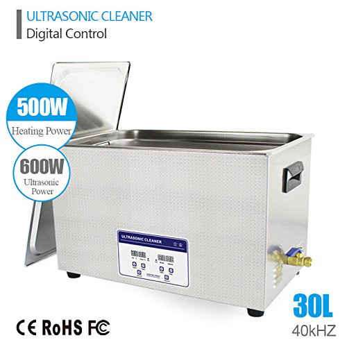 30L Professional Ultrasonic Cleaner Industrial/Commercial component/ Auto Engine Parts/Auto/Moto parts/Car Accessories Cleaning /Hospital Medical equipment/Devices Cleaning by eBelt Industrial