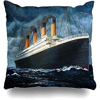 Throw Pillow Covers Custom Fashionable Titanic Pillowslip Square Sofa Cute 18 x 18 Inches Cushion Cases Pillowcases