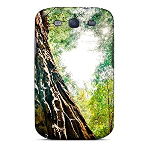 High Quality Shock Absorbing Case For Galaxy S3-tree Bark