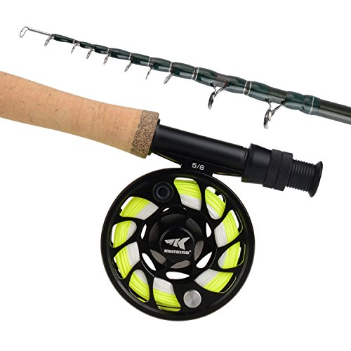KastKing Ascension Soloscopic Fly Combos,Combo,5 Wt-9ft Fly Rod,5 and 6 Reel ()