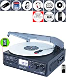 Boytone BT-19DJB-C 3-speed Turntable, 2 Built in Speakers Large Digital Display AM/FM, Cassette, USB/SD/AUX/MP3, Recorder & WMA Playback /Recorder & Headphone Jack + Remote Control