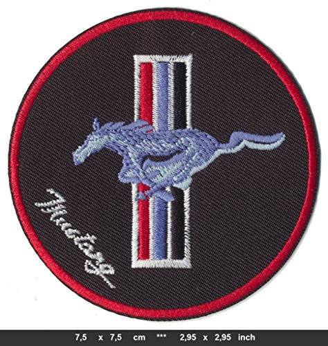 Embroidery Mustang (FORD MUSTANG Iron Sew On Cotton Patches Auto Sports Cars GT500 Modern Badge RSPS Embroidery n Decals)