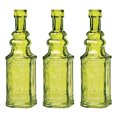 Bazaar Vintage Bottle 6 5 Inch Chartreuse