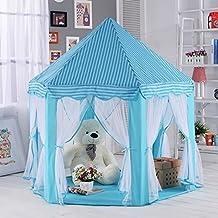 Loisleila Kids Fairy Princess Castle Tents Hexagon Girls Playhouse Indoor Fun Room Blue …
