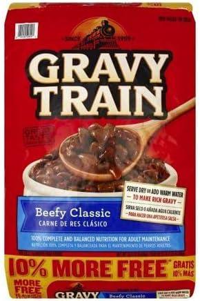 PACK OF 4 - Gravy Train Beef Classic Bonus Dry Dog Food, 15.4 Lb
