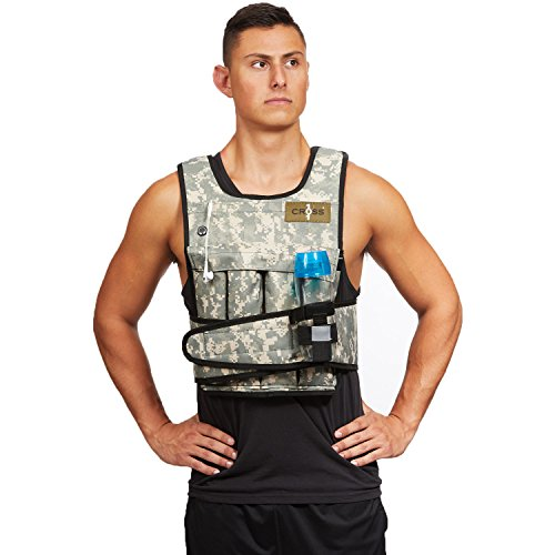 CROSS101 Camouflage Adjustable Weighted Vest with Shoulder Pads, 20 Piece by CROSS101 (Image #2)
